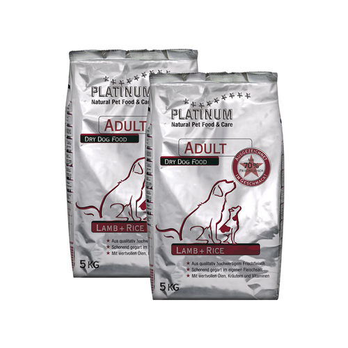 PLATINUM Adult Lamb+Rice 10 kg