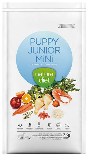 NATURA DIET Puppy Junior MINI (Huhn & Reis monoprotein) 3 kg